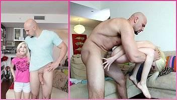 Pornô gratis homem grandão comendo ninfeta magrinha